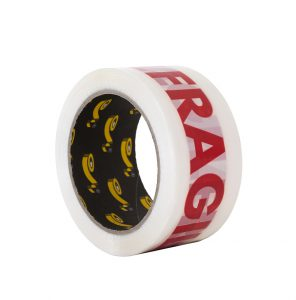 """Nastro stampato con scritta """"Fragile"""" - Prodotti per imballaggi Fibos"""